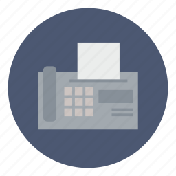 business, connection, fax, machine, print, printer, send icon