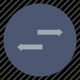 arrow, business, move, receive, send, share, transfer icon
