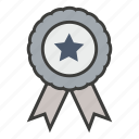 achievement, award, business, reward, ribbon, victory, win icon