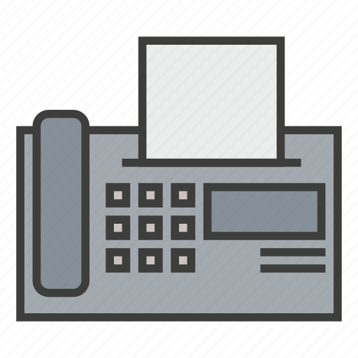 business, connection, fax, machine, print, printer, send icon