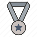 achievement, award, business, gold, medal, reward, win icon