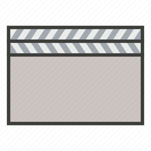 business, clapboard, media, movie, play, social, video icon