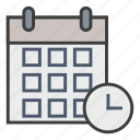 appointment, business, calendar, clock, deadline, plan, schedule icon