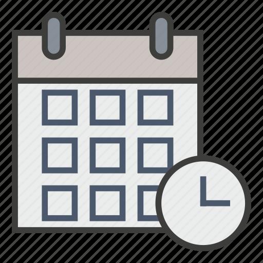 appointment, business, calendar, clock, deadline, plan, schedule icon