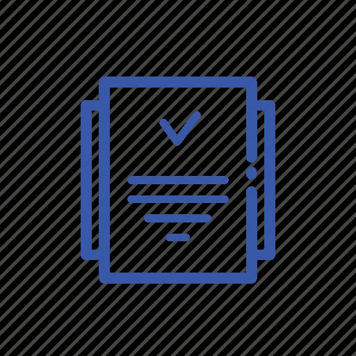 checklist, draft, list, note, notepad icon