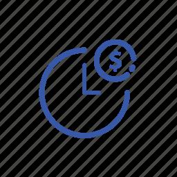 clock, dolar, time icon
