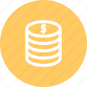 cash, coins, dollar, money, usd icon