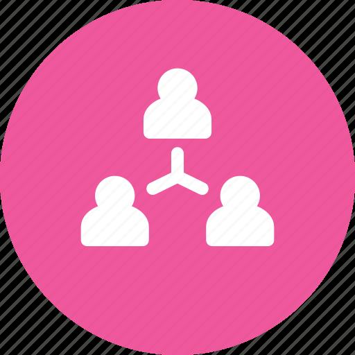 company, hierarchy, team, tree icon
