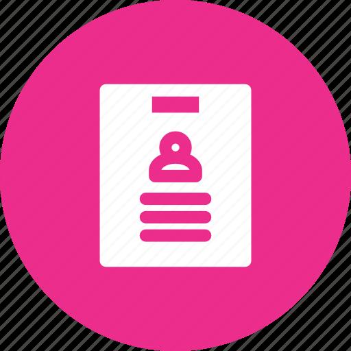 cv, document, employee, report icon