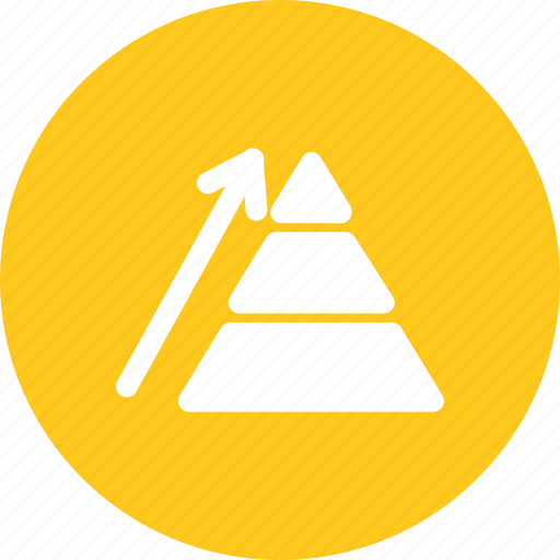 business, growth, pyramide, revenue icon