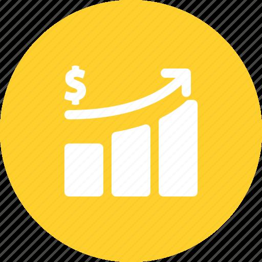 business, growth, histogram, revenue icon
