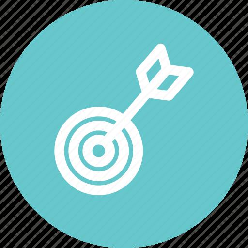 archery, bow, goal, target icon