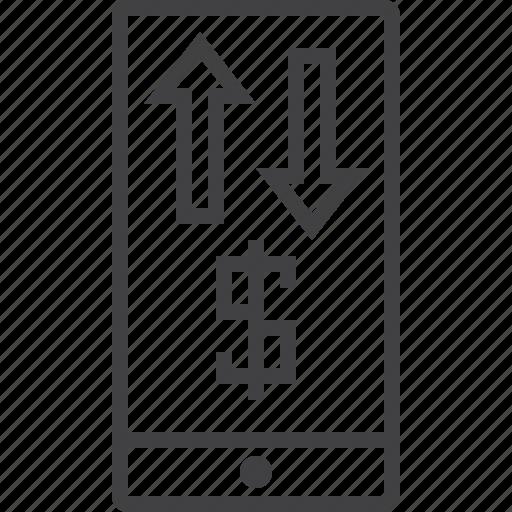 banking, mobile, transaction icon