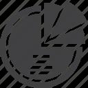 chart, circle, pie icon