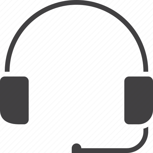 call center, headset, support icon