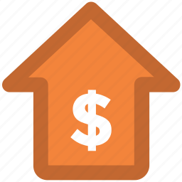business, euro, home, house, money, property, property for sale icon