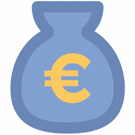 cash, cash bag, euro, euro currency, euro sack, money sack icon