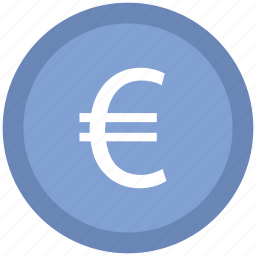 coins stack, currency, euro coins, euro sign, financial, money icon