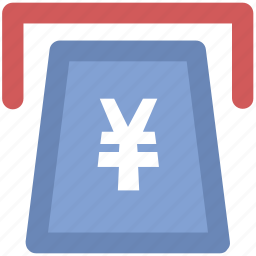 atm, atm withdrawal, cash withdrawal, payment withdrawal, transaction, yen withdrawal icon