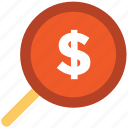 business analysis, magnifier, magnifying glass, searching finance, zoom icon