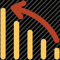 analytics, business, chart, diagram, economy, economy graph, graph icon