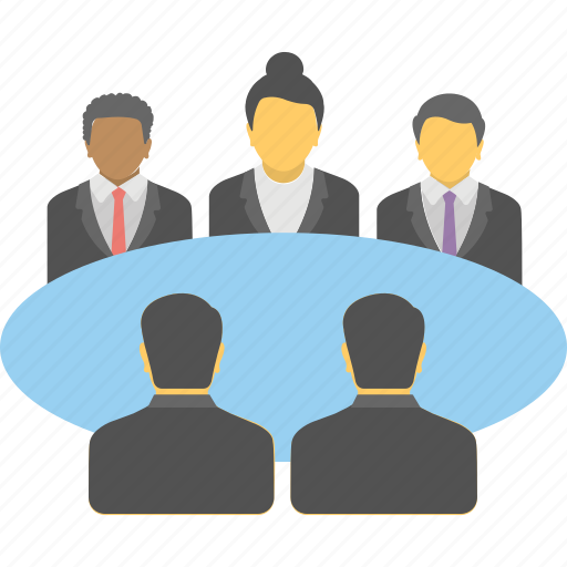 business meeting, conference, conversation, table talk, talk icon