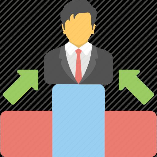 podia, podium, position, rostrum, winner stage icon