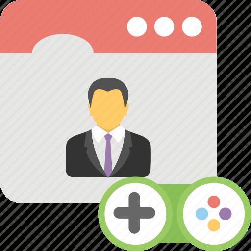 personal profile, social media, web profile, website user icon