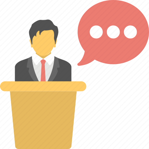 communication, conference, lecture, presentation, public speaker icon
