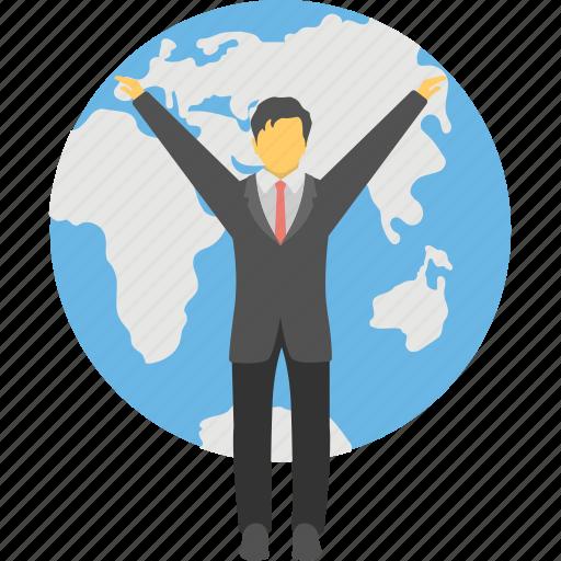 Global businessman, international businessperson ...