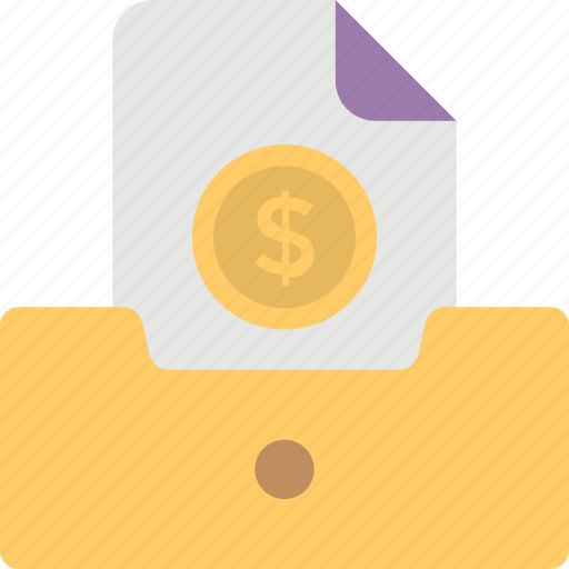 bill, business expense, invoice, payment, receipt icon