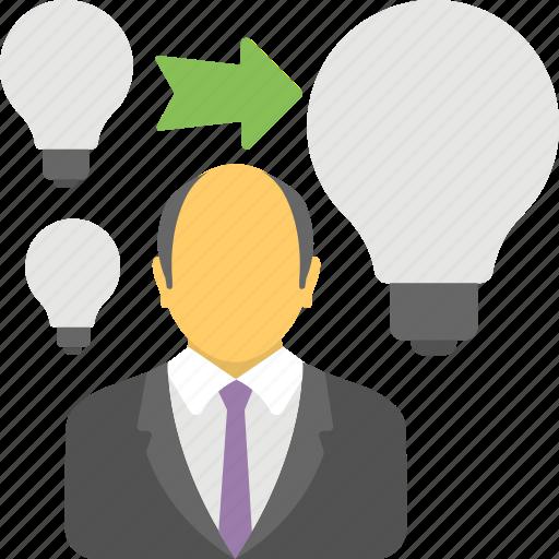 businessman idea, energy efficient, financial idea, innovative idea, successful businessman icon
