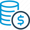 business, coins, finance, money, profit, stack, stats icon