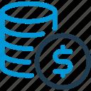 business, coins, finance, money, profit, stack, stats
