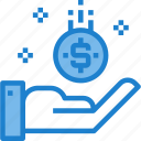business, coin, get, money, salary icon