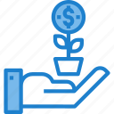 business, chart, growth, moeny icon