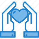 hand, heart, love, ribbon, solidarity icon