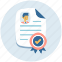 certificate, degree, diploma, licence icon
