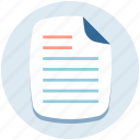 document, office document, sheet, text sheet, urgent icon