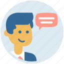 business chat, chat bubble, communication, help center, help line icon