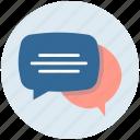 chat ballon, chat bubble, comments, speech balloon, speech bubble icon