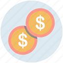 cash, coin, currency, dollar, dollar coin, money icon