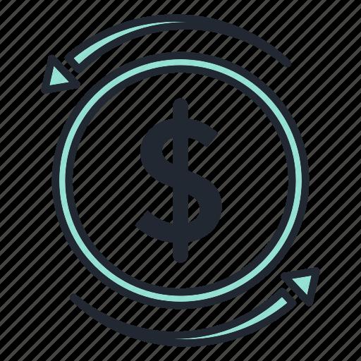 business, coins, dollar, marketing, money icon