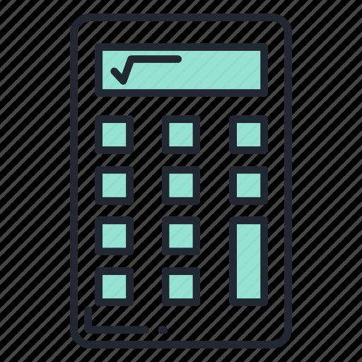 business, calculator, finance, marketing, office icon