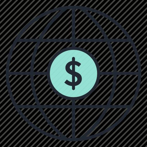 business, dollar, finance, money, world icon