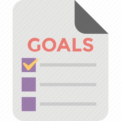 ambition, goal list, intention, plan, target icon