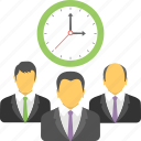 busy, deadline, hurry, office workers, work time icon