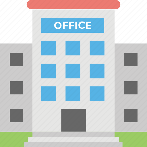 building, office, office exterior, office space, real estate icon