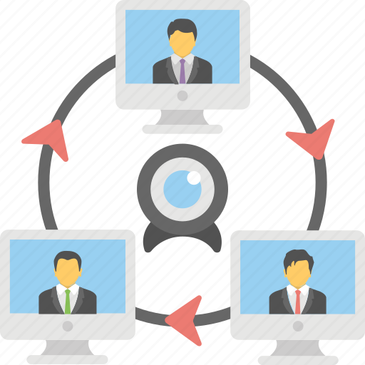 conference call, skype video, video call, video chat, webcam icon