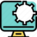 business, cog, engineering, gear, industrial, process, web icon